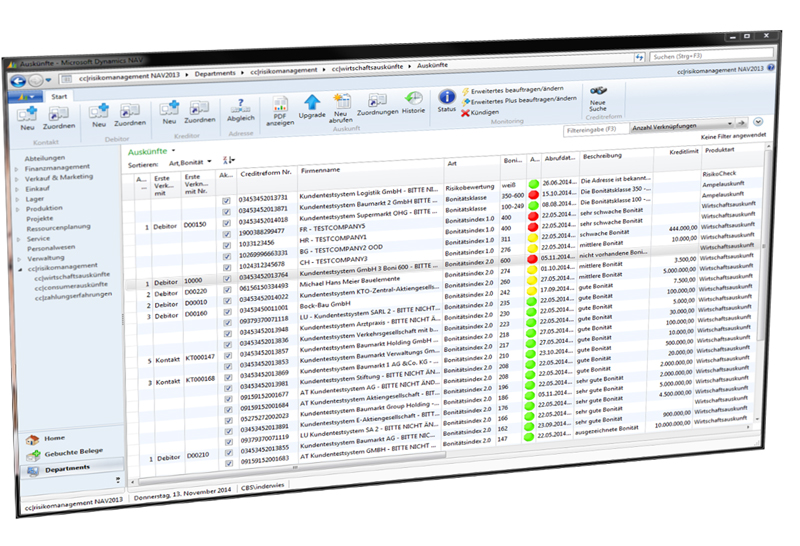 Screenshot zu Crefo-Dynamics dem Kredit-Management-System
